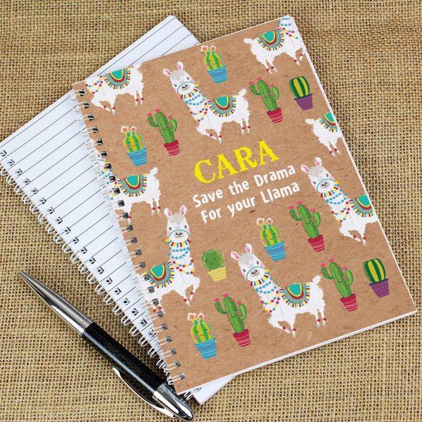 Personalised Llama A5 Notebook