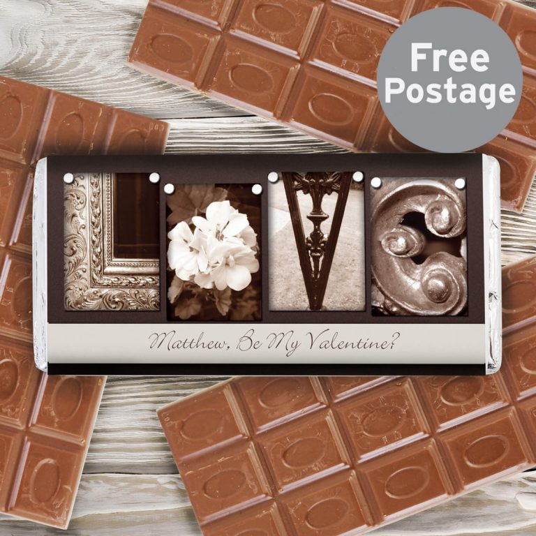Personalised Affection Art Love Milk Chocolate Bar