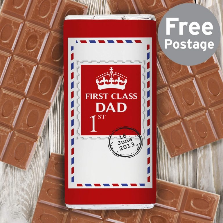 Personalised 1st Class Milk Chocolate Bar