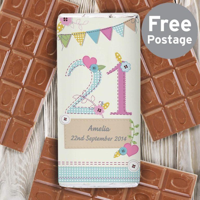 Personalised Birthday Craft Milk Chocolate Bar