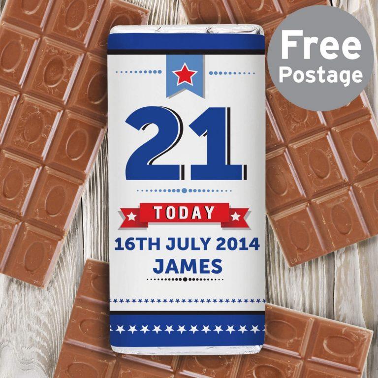 Personalised Birthday Star Milk Chocolate Bar