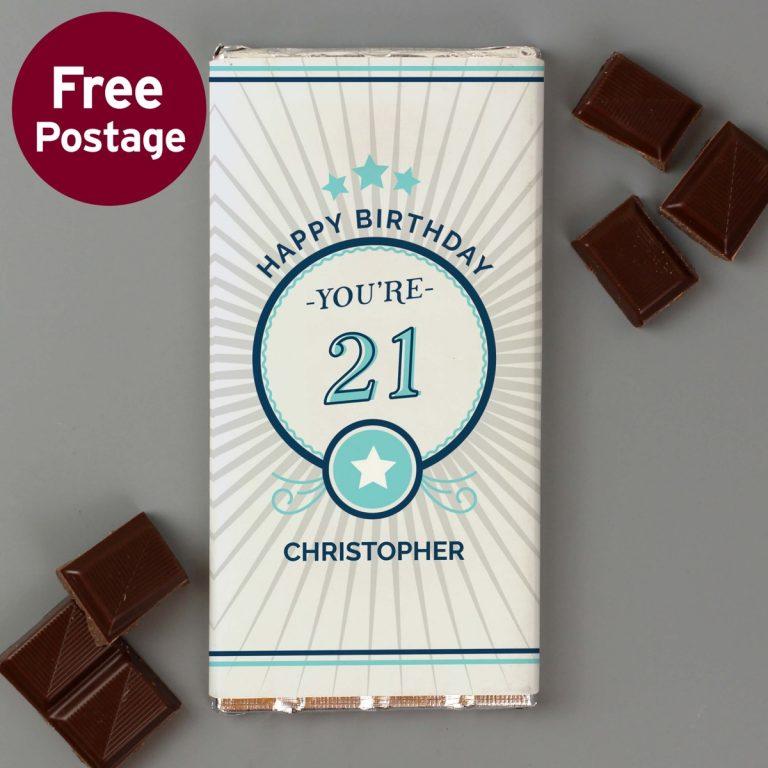 Personalised Birthday Milk Chocolate Bar