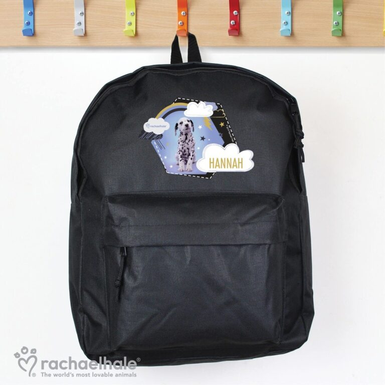 Personalised Rachael Hale Dalmatian Black Backpack