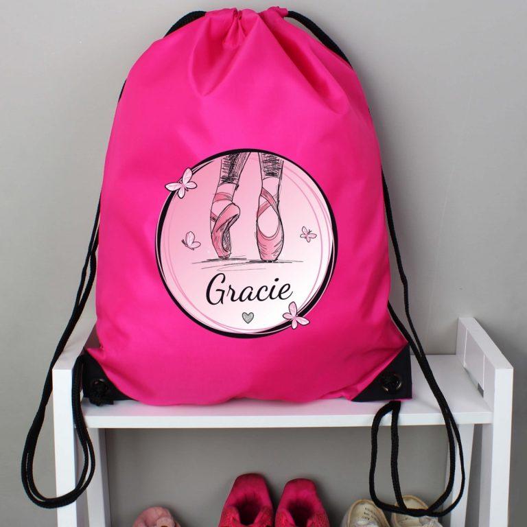 Personalised Ballet Pink Kit Bag