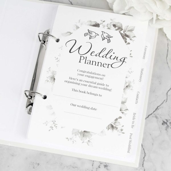 Personalised Floral Watercolour Wedding Planner