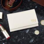 Personalised Gold Initials Cream Purse