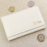 Personalised Gold Name Cream Purse