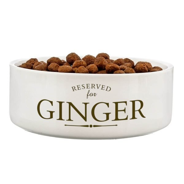 Personalised Reserved For 14cm Medium White Pet Bowl