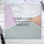 Personalised Geometric Glass Chopping Board