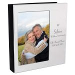 Personalised Decorative Silver Anniversary 6×4 Photo Frame Album