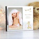 Personalised Hessian Giraffe 6×4 Photo Frame Album