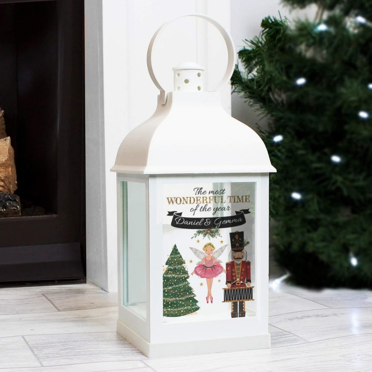 Personalised Nutcracker White Lantern