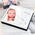 Personalised Baby Unicorn 6×4 Photo Frame Album