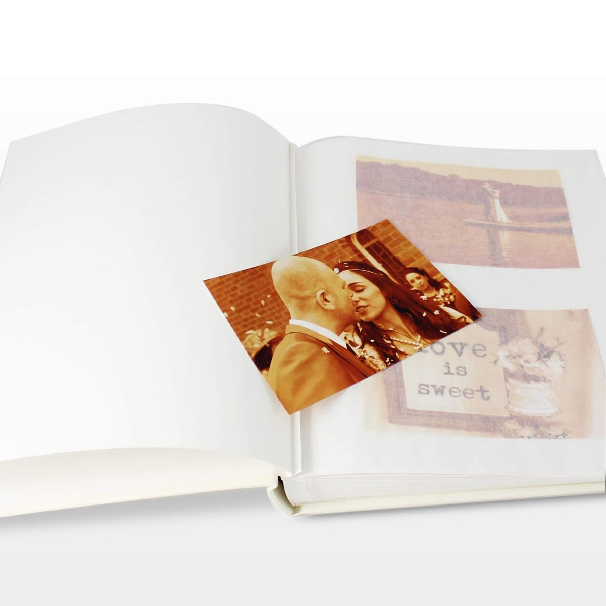 Personalised Gold Ornate Swirl Traditional Album