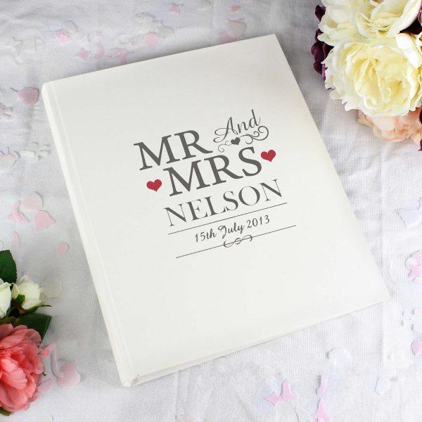 Personalised Mr & Mrs Traditional Album