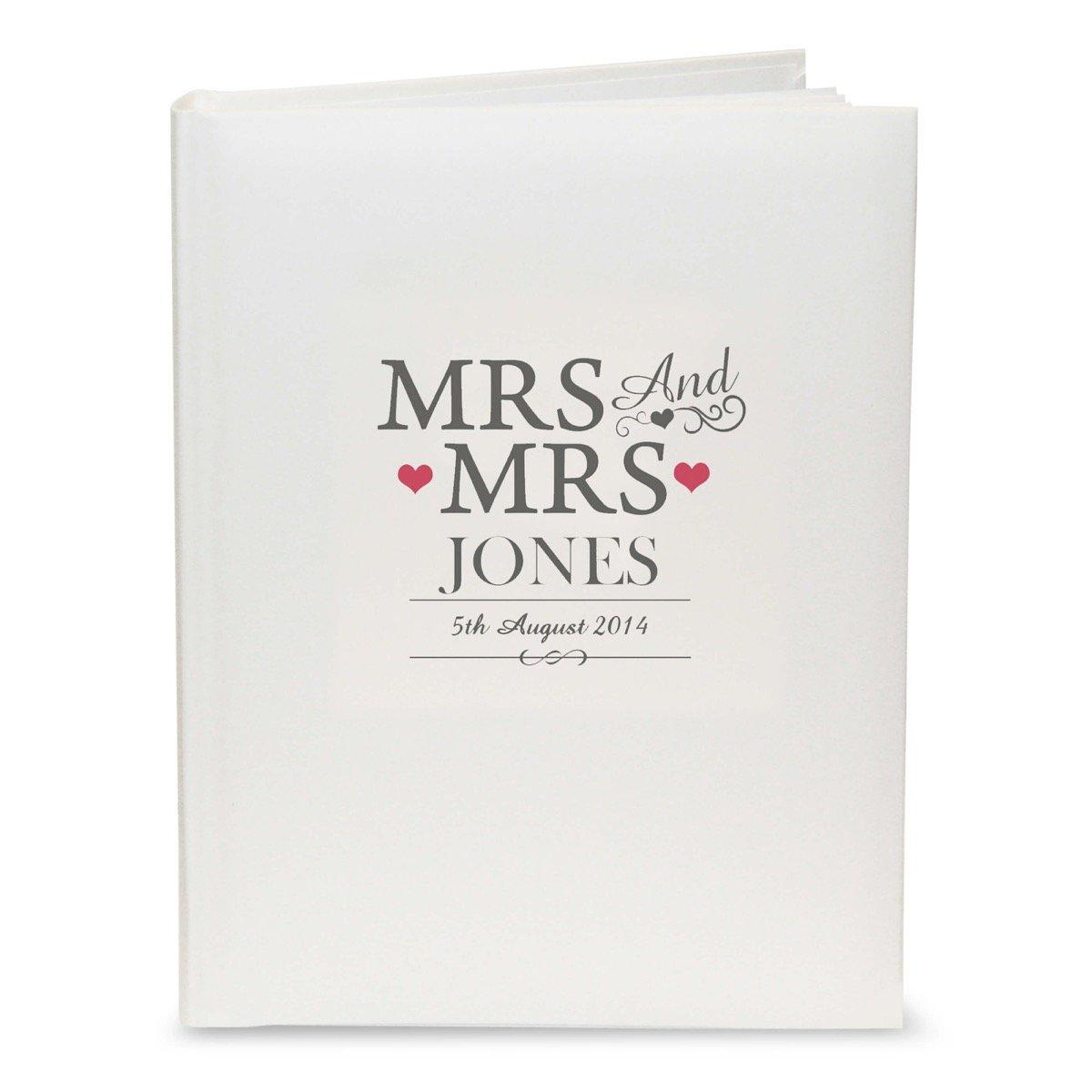 Personalised Mrs & Mrs Traditional Album