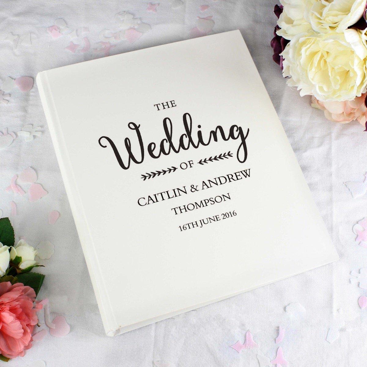 Personalised Rustic Wedding Traditional Album