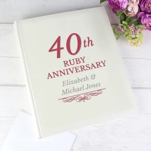 Personalised 40th Ruby Anniversary Traditional Album