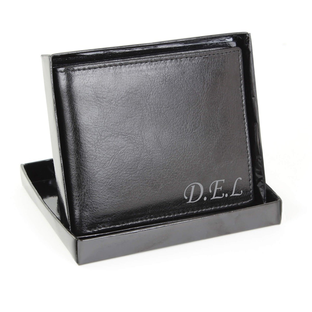 Personalised Script Font Leather Wallet