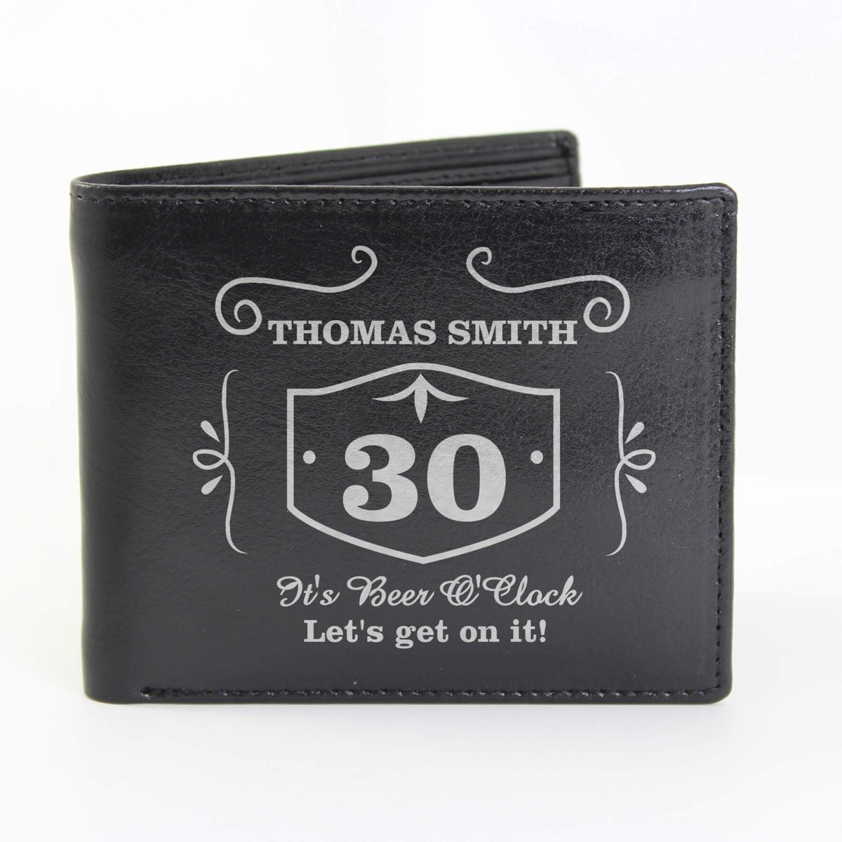 Personalised Classic Whisky Leather Wallet