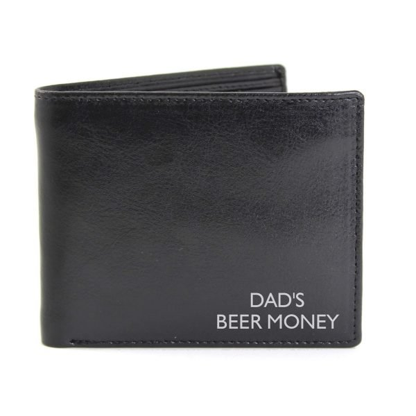 Personalised Message Leather Wallet