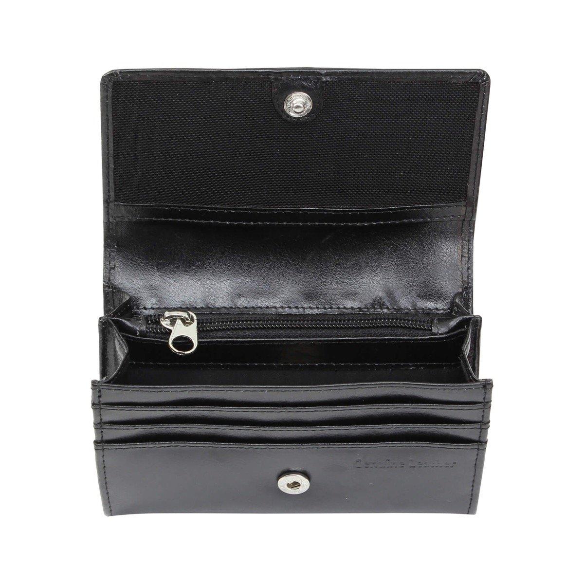 Personalised Princess Black Leather Purse