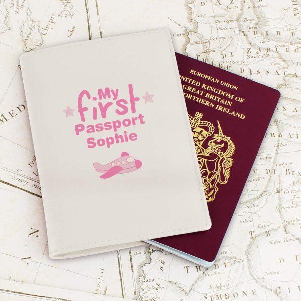 Personalised My First Cream Passport Holder