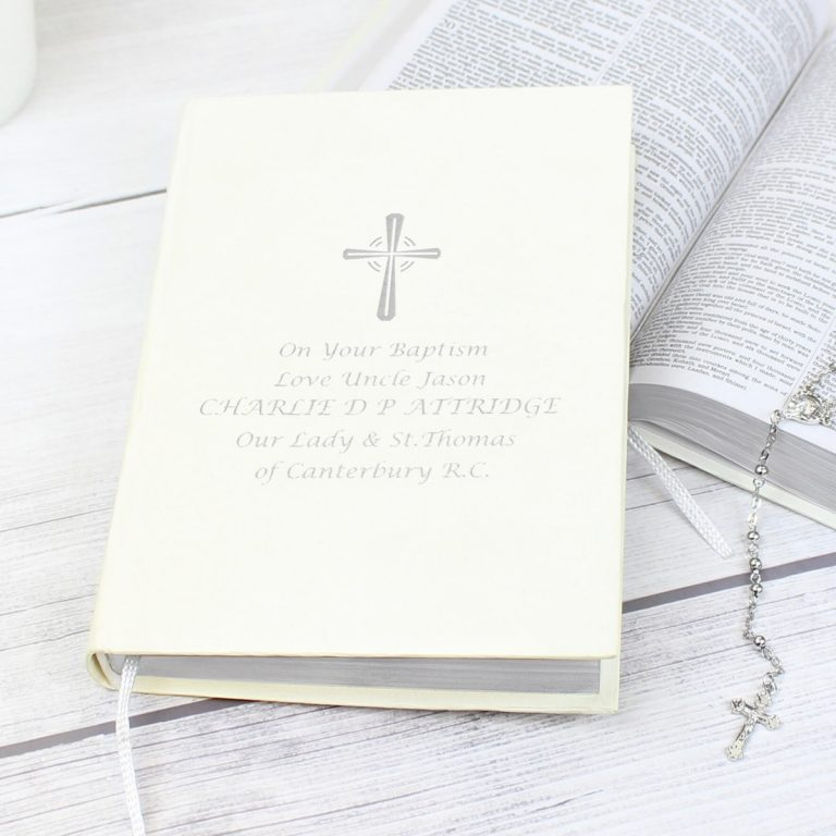 Personalised Silver Companion Holy Bible – Eco-friendly