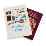 Personalised Male Essentials Cream Passport Holder