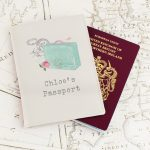 Personalised Vintage Pastel Travel Cream Passport Holder