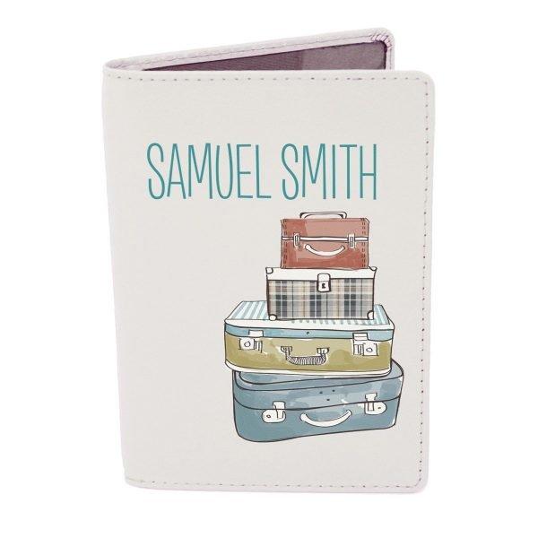 Personalised Suitcases Cream Passport Holder
