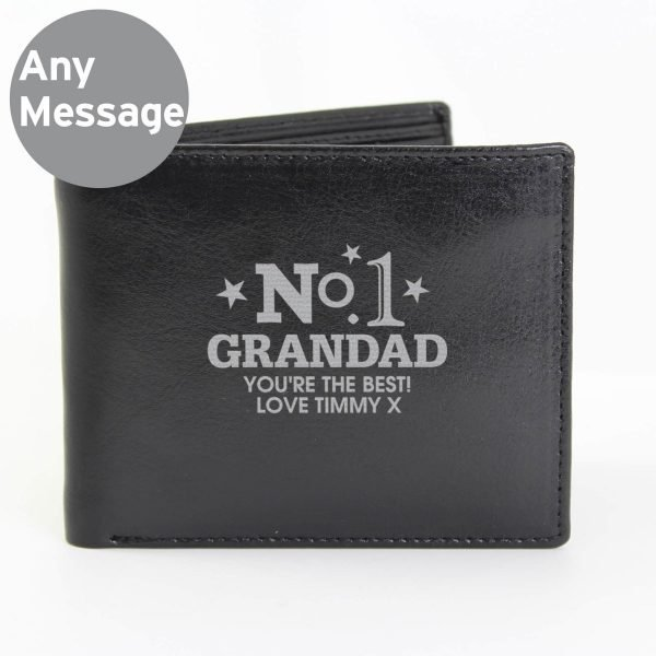 Personalised No.1 Leather Wallet