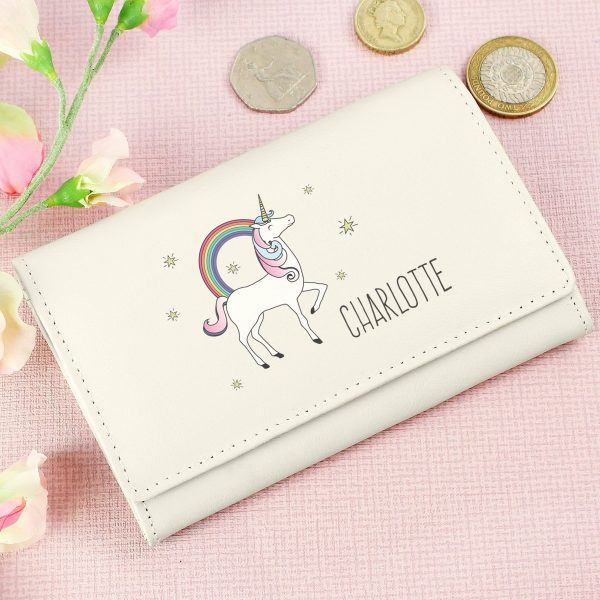 Personalised Unicorn Cream Purse