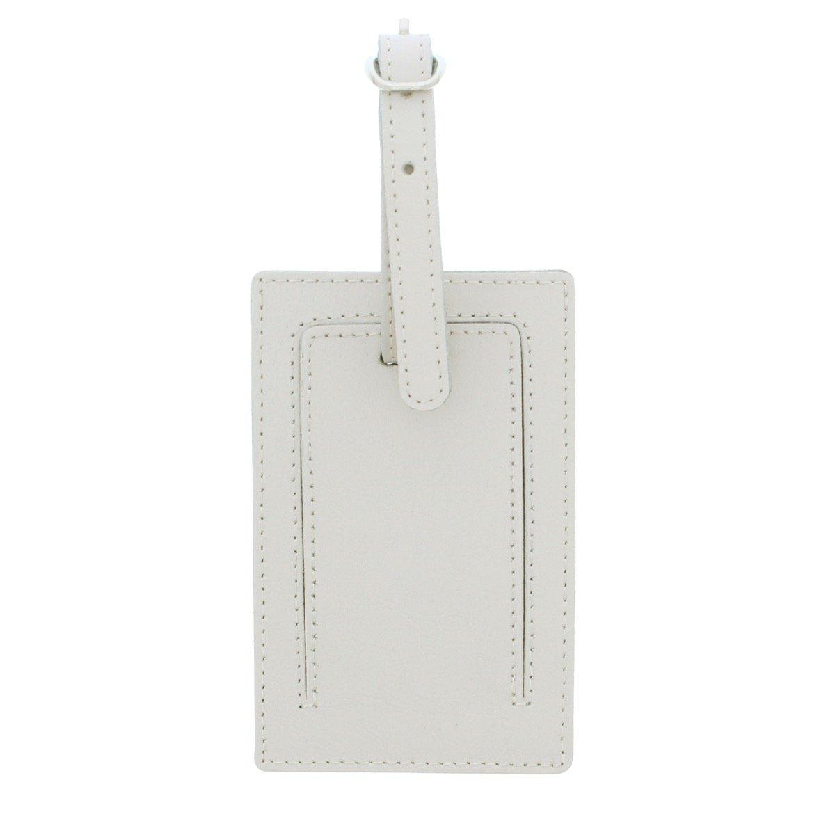 Personalised Unicorn Cream Luggage Tag