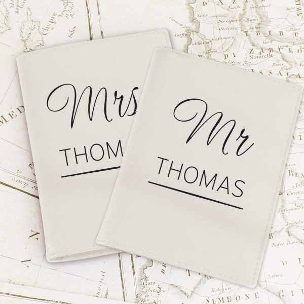 Personalised Couples Cream Passport Holders