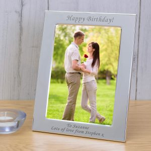 Personalised Silver Plated Photo Frame – Your Message