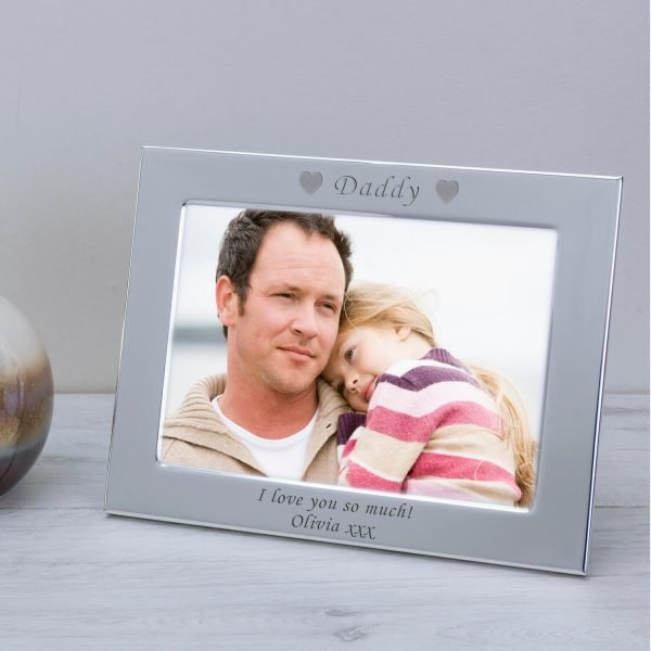 Personalised Silver Plated Photo Frame – Daddy