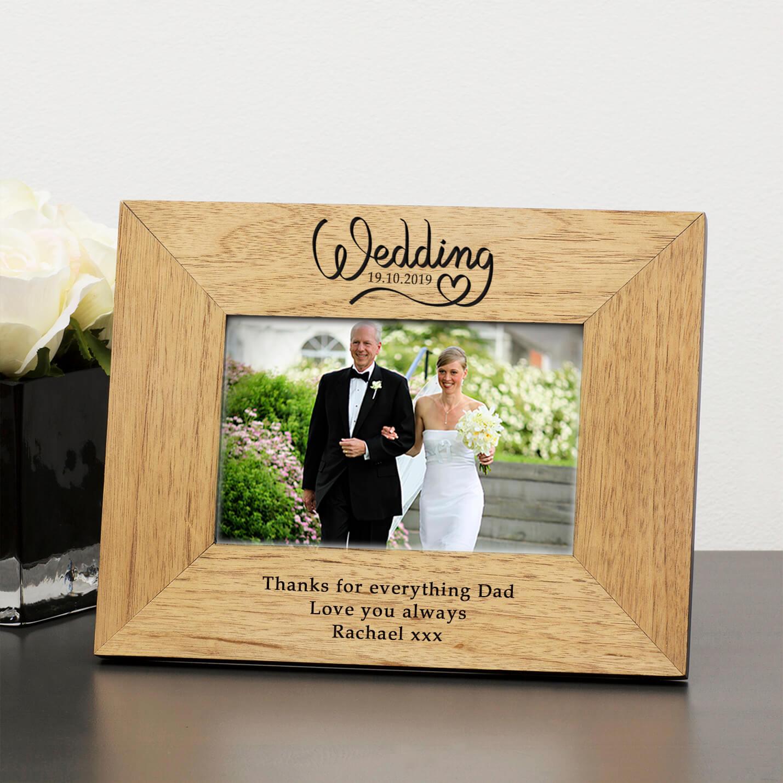 Personalised Wooden Photo Frame – Wedding