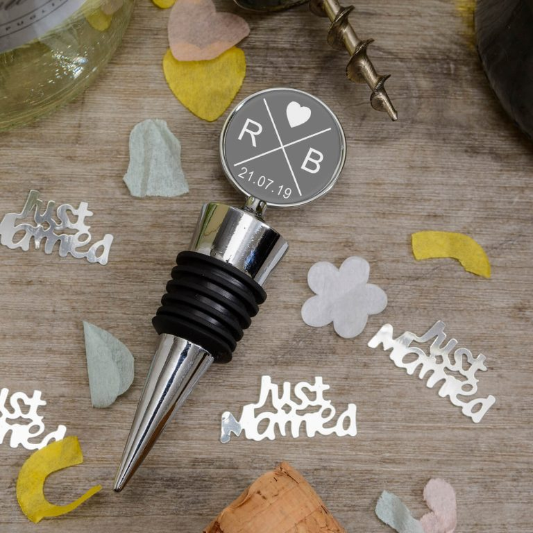 Personalised Bottle Stopper – Initials & Date