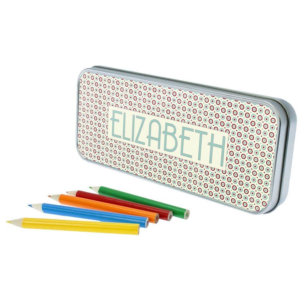Personalised Circle Pattern Pencil Case
