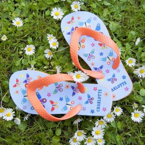 Personalised Kids Flip Flops – Butterfly