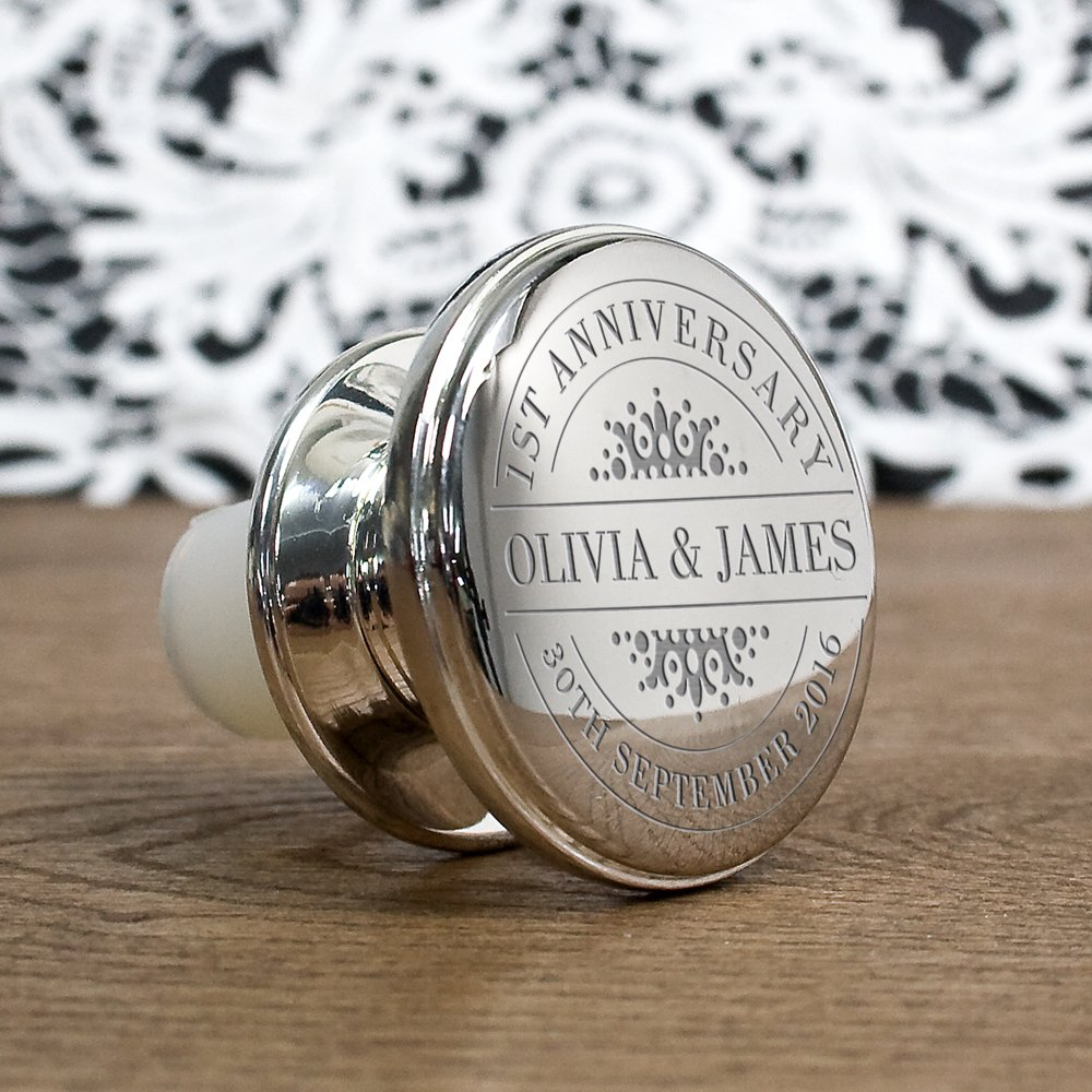 Personalised Wine Bottle Stopper – Your Message