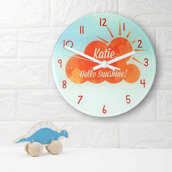 Personalised Wall Clock – Hello Sunshine