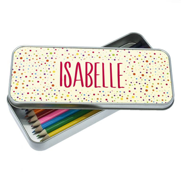 Personalised Dotty Pencil Case