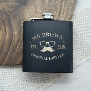 Personalised Hip Flask – Original Hipster