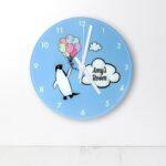 Personalised Wall Clock – Penguin