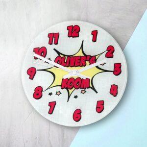 Personalised Wall Clock – Pow!