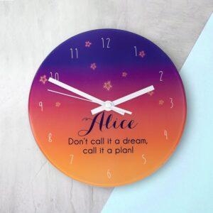 Personalised Wall Clock – Desert at Dusk