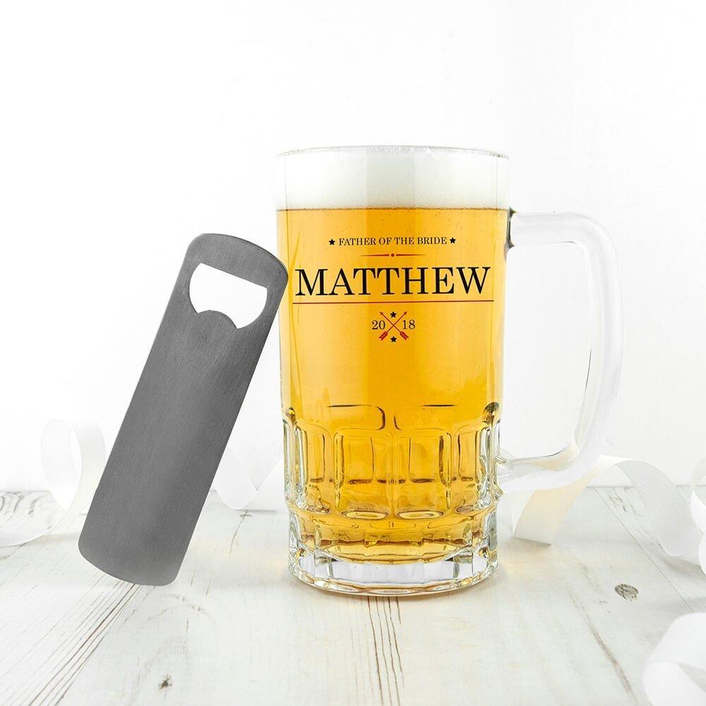 Personalised Wedding Beer Glass (Tankard) – Ornamental