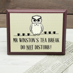 Personalised Wooden Sign – Teacher Do Not Disturb